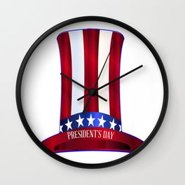 Presidents Day Uncle Sam's Tall Hat Wall Clock