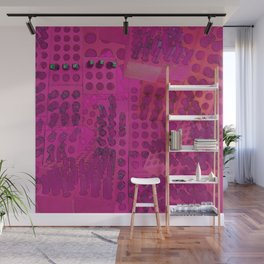 I Love You Letter Punches Abstract Pink Wall Mural