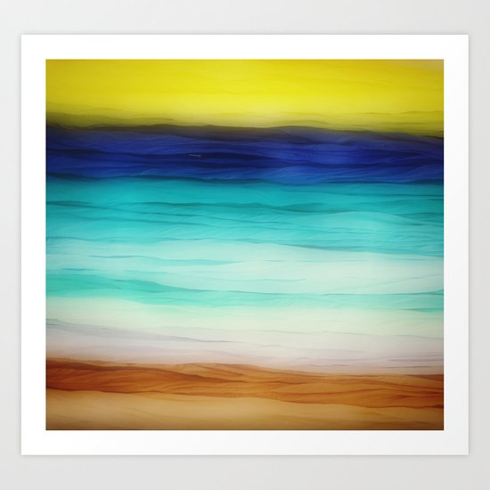 beach abstract Art Print