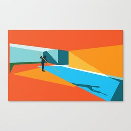 Pool Cleaner Canvas Print