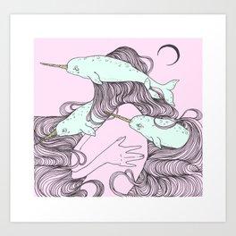 Narwhale Art Print