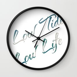 10388 Low tide, low life Wall Clock