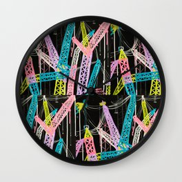 New York Cranes Wall Clock