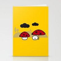 mushroom Stationery Cards featuring Mushroom by pludadesign