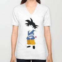 goku V-neck T-shirts featuring Goku  by JHTY