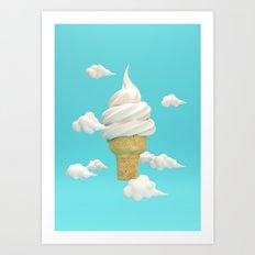 Big Ice Cream Art Print