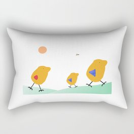 Sunny Family Walking with Boy Rectangular Pillow