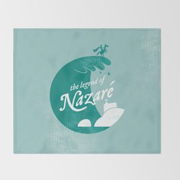 Legend of Nazaré Throw Blanket