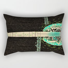 Breathing music Rectangular Pillow