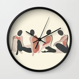 Woman Forms Wall Clock