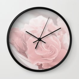 Lovely Rose in soft pink pastel tone Wall Clock