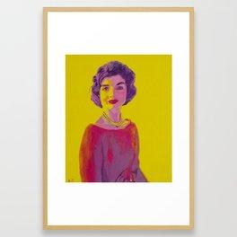 Jackie Kennedy Framed Art Print