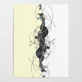Minimalist geometrical two toned Pattern Poster