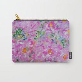Pink Peonies Garden, Abstract Pink Wall Art, Pink Home Decor Carry-All Pouch
