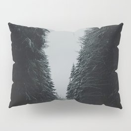 Moody road in winter Pillow Sham