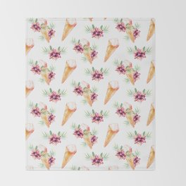 Hawaiian Dream Ice Cream Throw Blanket