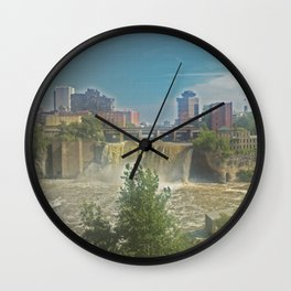 High Falls  on the Genesee River Wall Clock