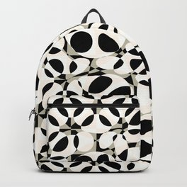 black and white circles in squares Backpack