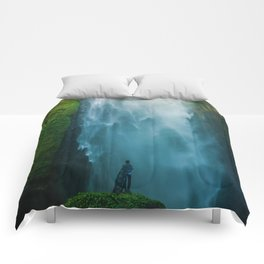 Waterfall Valley (Color) Comforters