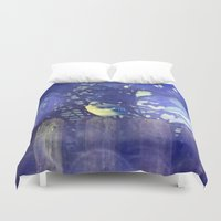 jay fleck Duvet Covers featuring Blue Jay by Yoshigirl