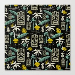 Island Tiki - Black Canvas Print