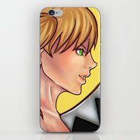 soul eater iPhone & iPod Skins featuring Soul Eater- Maka Albarn by Caeruuart