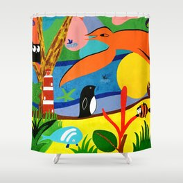 Existence Shower Curtain