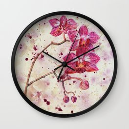 beauTEAful blooms: Orchids Wall Clock
