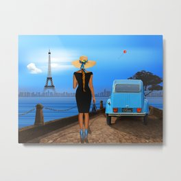 Love in Paris Metal Print
