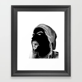 Yang (Head) Framed Art Print