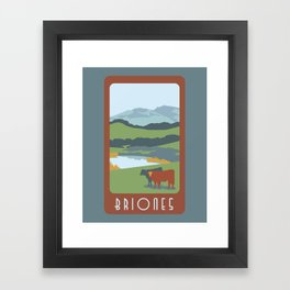 Briones Travel Poster Framed Art Print