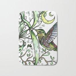 Hummingbird Garden Party Bath Mat