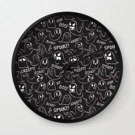 Ghosts in Black Wall Clock