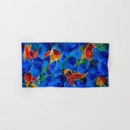 Koi Pond 2 - Liquid Fish Love Art Hand & Bath Towel