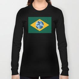 Brazil flag with ball Long Sleeve T-shirt