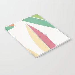 Abstract Retro Color Surfboards Notebook