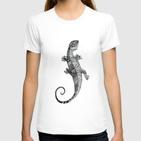 lizard T-shirts featuring lizard by Emma Reznikova