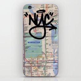 Manhattan: NY Subway Map iphone case iPhone Skin