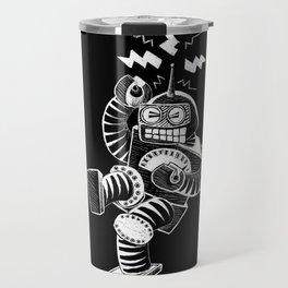 ELECTRIC! (Air-Guitaring Robot) Travel Mug