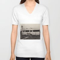 holiday V-neck T-shirts featuring Holiday by PintoQuiff