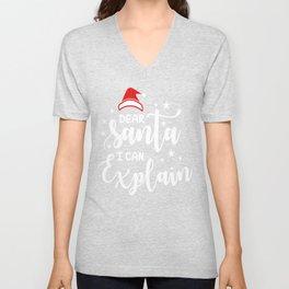 Christmas Clip Art Dear Santa I Can Explain Funny Christmas Apparel Christmas Clothing Unisex V-Neck