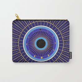 Cobalt Blue Evil Eye Mandala  with Moon Phases Carry-All Pouch
