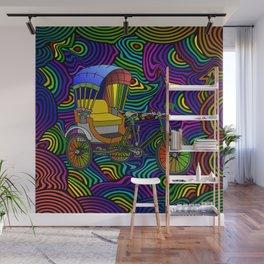 Psychedelic Rickshaw Wall Mural