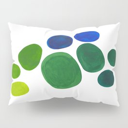 Mid Century Kusama Abstract Minimalist Colorful Pop Art Lime Green Blue Rainbow Ombre Gradient Pillow Sham