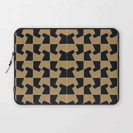 Abstract hexagon periodic tessellation pattern gamboge black Laptop Sleeve