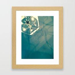 Chandelier Shadows Framed Art Print