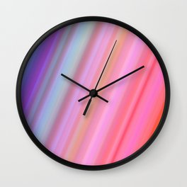 Abstract Neon Lights Colors Wall Clock