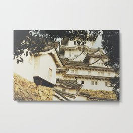 White Heron Castle Metal Print