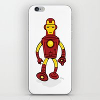 bender iPhone & iPod Skins featuring Iron Bender by Andy Whittingham