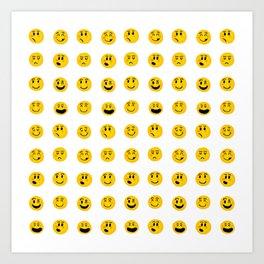 Cute Emoji pattern Art Print